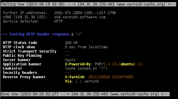 header check on https://www.varnish-cache.org